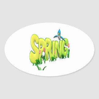 Spring 3 oval sticker
