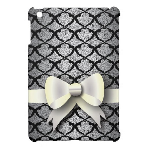 Spring 4 Dance Pattern White Bow iPad Mini Covers