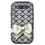 Spring 4 Pattern Black Lace with Bow Samsung Galaxy SIII Cases