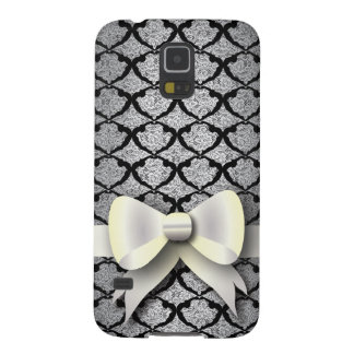 Spring 4 Pattern Black Lace with Bow Galaxy S5 Case