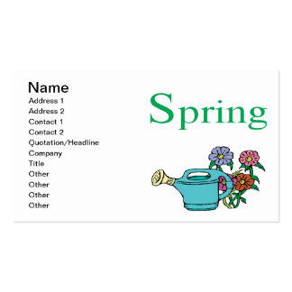 Spring 8 Double-Sided standard business cards (Pack of 100)