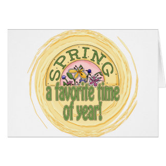 Spring - A Favorite Time of Year Stationery Note Card