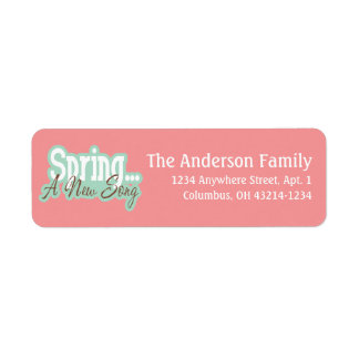 Spring a New Song Spring Season Address Labels