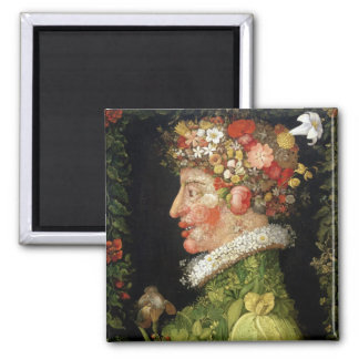 Spring, a series depicting the four seasons 2 inch square magnet