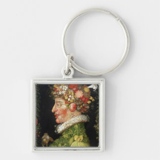 Spring, a series depicting the four seasons keychain