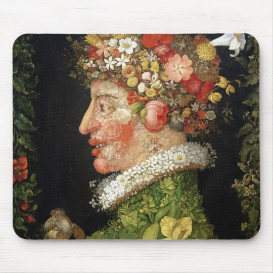 Spring, a series depicting the four seasons mouse pad