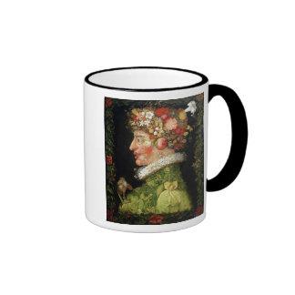 Spring, a series depicting the four seasons ringer mug