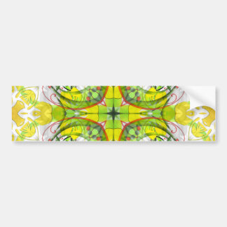 Spring Abstract in Green & Yellow Car Bumper Sticker