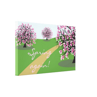 Spring again Canvas Poster Canvas Print