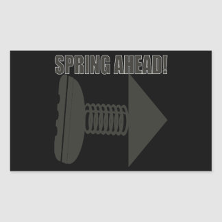 Spring Ahead 2 Rectangular Sticker