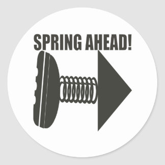 Spring Ahead 2 Classic Round Sticker