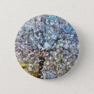 Spring Almond Blossom Pinback Button