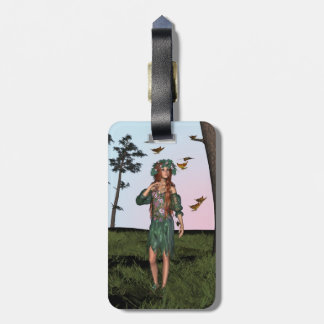 Spring and Butterflies Luggage Tag