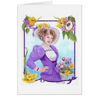 Spring and Dressed for the Easter Parade Card