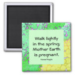 spring and mother earth 2 inch square magnet