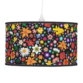 Spring and Summer Flowers pendant_lamp