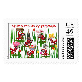 spring ant-ics stamps