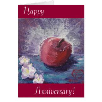 spring apple, Happy, Anniversary! Card