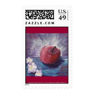 Spring Apple Postage Stamp
