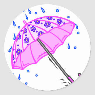 Spring April Showers Classic Round Sticker