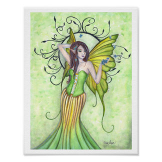 Spring Arrival Fairy Poster Print