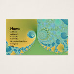 Spring Arrives - Fractal Art Business Card