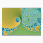 Spring Arrives - Fractal Art Card