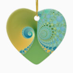 Spring Arrives - Fractal Art Ceramic Ornament