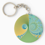Spring Arrives - Fractal Art Keychain