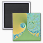 Spring Arrives - Fractal Art Magnet