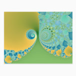 Spring Arrives - Fractal Art Postcard