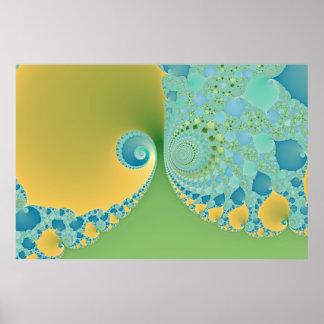 Spring Arrives - Fractal Art Poster