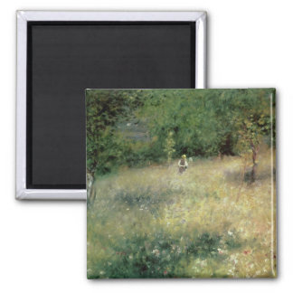 Spring at Chatou, c.1872-5 2 Inch Square Magnet