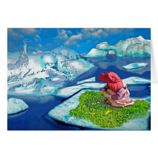 Spring at the north pole greeting cards