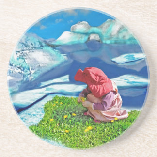 Spring at the north pole beverage coaster
