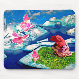 Spring at the north pole mouse pads
