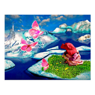 Spring at the north pole postcard