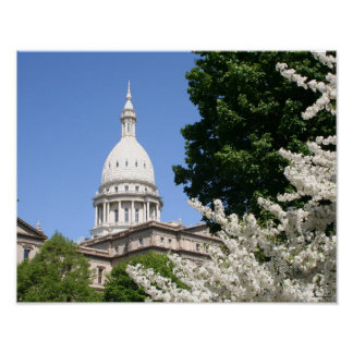 Spring at the State Capitol Poster