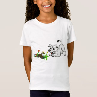 Spring-awake, puppy with butterfly T-Shirt