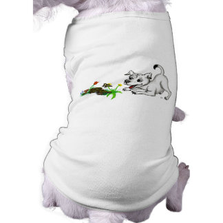 Spring-awake, Puppy with Butterfly Tee