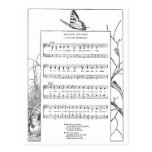 Spring Awakening Song and Butterfly Postcard