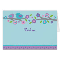 Spring Baby Bird Thank You Note Cards