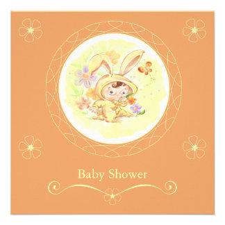 Spring Baby Shower Rabbit Illustration Invite