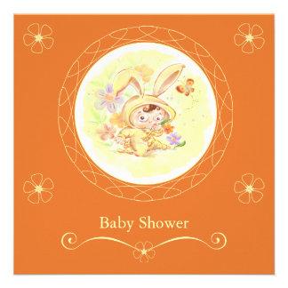 Spring Baby Shower Rabbit Illustration Invites