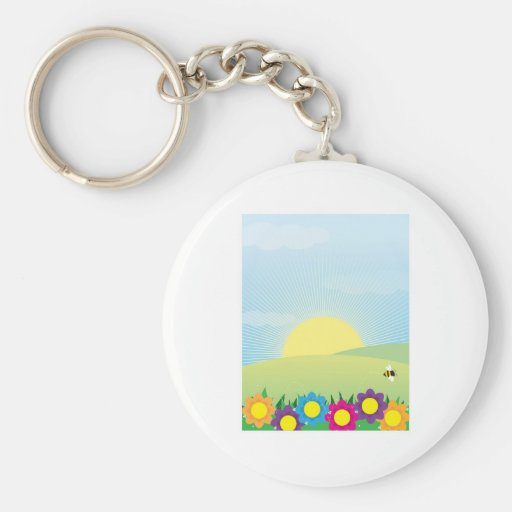 Spring Background Key Chain