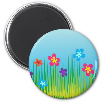 Spring Background Fridge Magnet