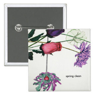 Spring badge 2 inch square button