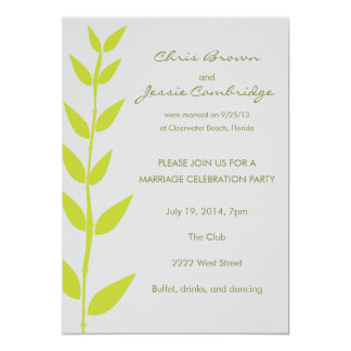 Spring Bamboo Already Married Party Invitation