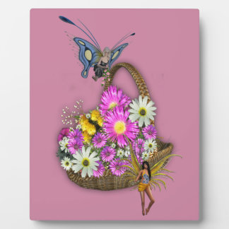Spring basket gatherers plaque