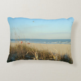 Spring Beach Scene No. 3 Accent Pillow